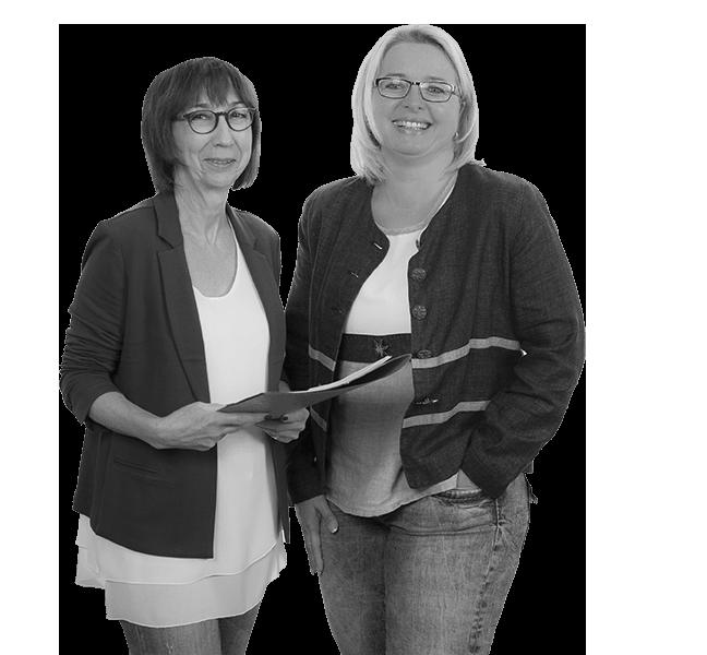 Teil eines motivierten Teams - Ellen Helfrich und Sandra Ott