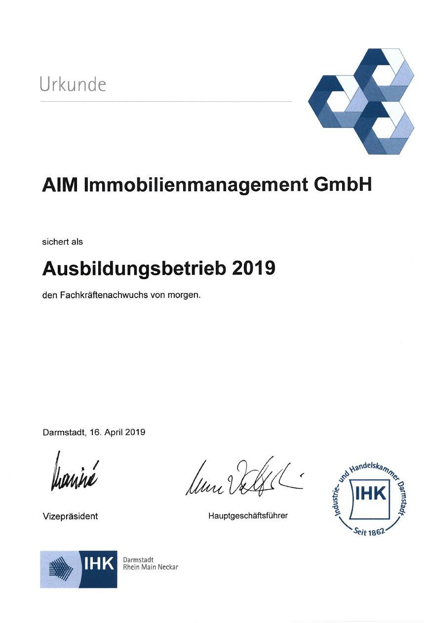 AIM bildet seit 2019 aus!