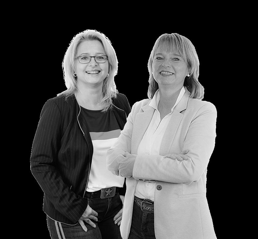 Teil eines motivierten Teams - Sandra Ott und Sabine Kropf